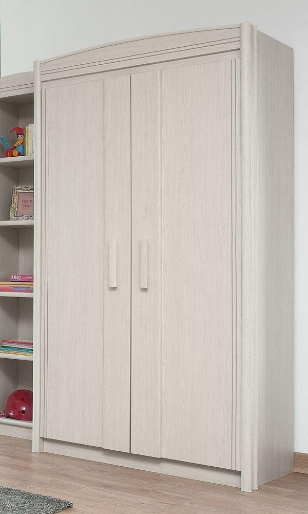 Gami Montana Whitewashed Ash Wardrobe - 2 Door