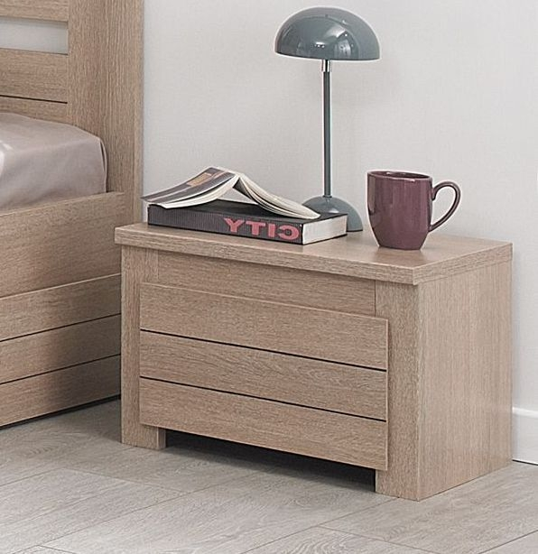 Gami Naturela Hazelnut Oak Bedside Cabinet - 1 Drawer