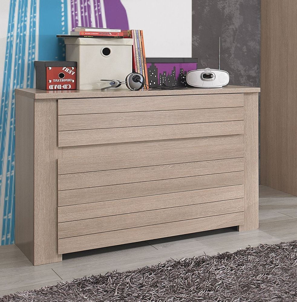 Gami Naturela Hazelnut Oak Chest of Drawer - 3 Drawer