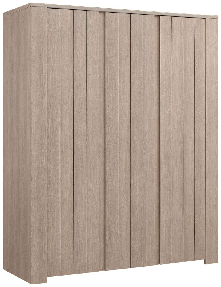 Gami Naturela Hazelnut Oak Wardrobe - 3 Door