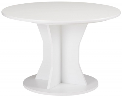 Gami Palace White Dining Table - Round Extending