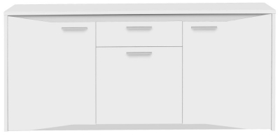 Gami Palace White Sideboard - 3 Door 1 Drawer
