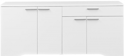 Gami Palace White Sideboard - 4 Door 1 Drawer