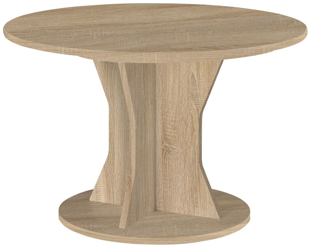 Gami Palace Sonoma Oak Dining Table - Round Extending