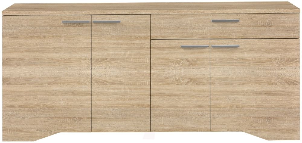 Gami Palace Sonoma Oak Sideboard - 4 Door 1 Drawer