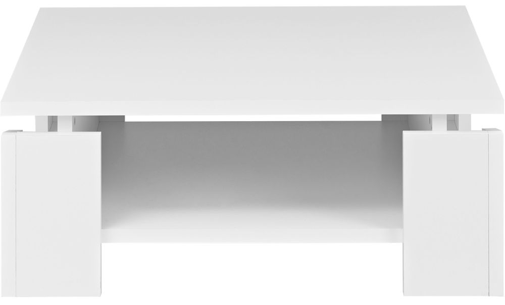 Gami Palace White Coffee Table - Square