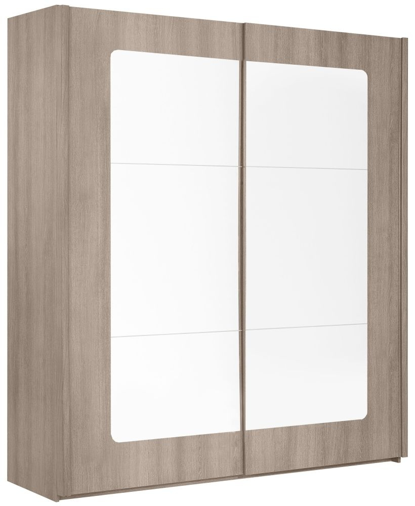 Gami Quadra Grey Hazelnut Sliding Wardrobe - 2 Door