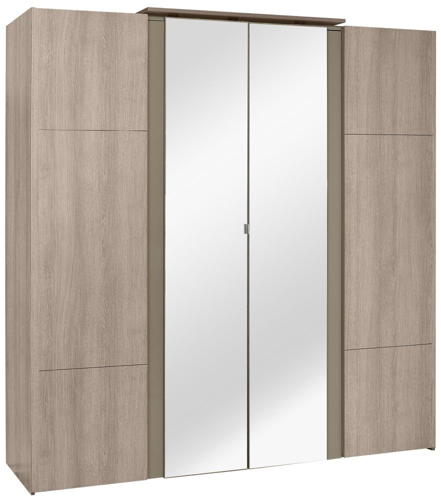 Gami Quadra Grey Hazelnut Wardrobe - 4 Door