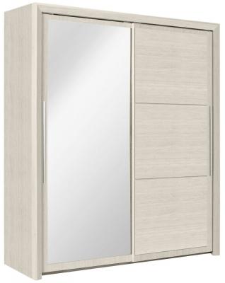 Gami Sarlat Cherry White Sliding Wardrobe - 2 Door with Mirror