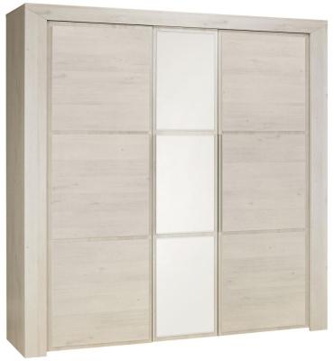 Gami Sarlat Cherry White Wardrobe - 3 Door