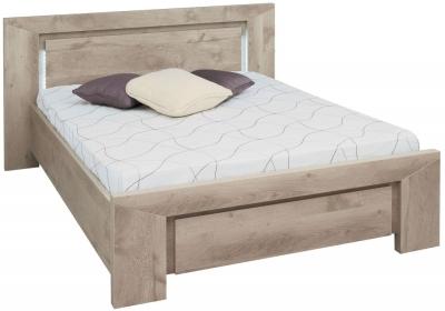 Gami Sarlat Oak Bed with Headboard Light