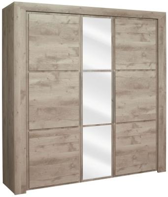 Gami Sarlat Oak Wardrobe - 3 Door