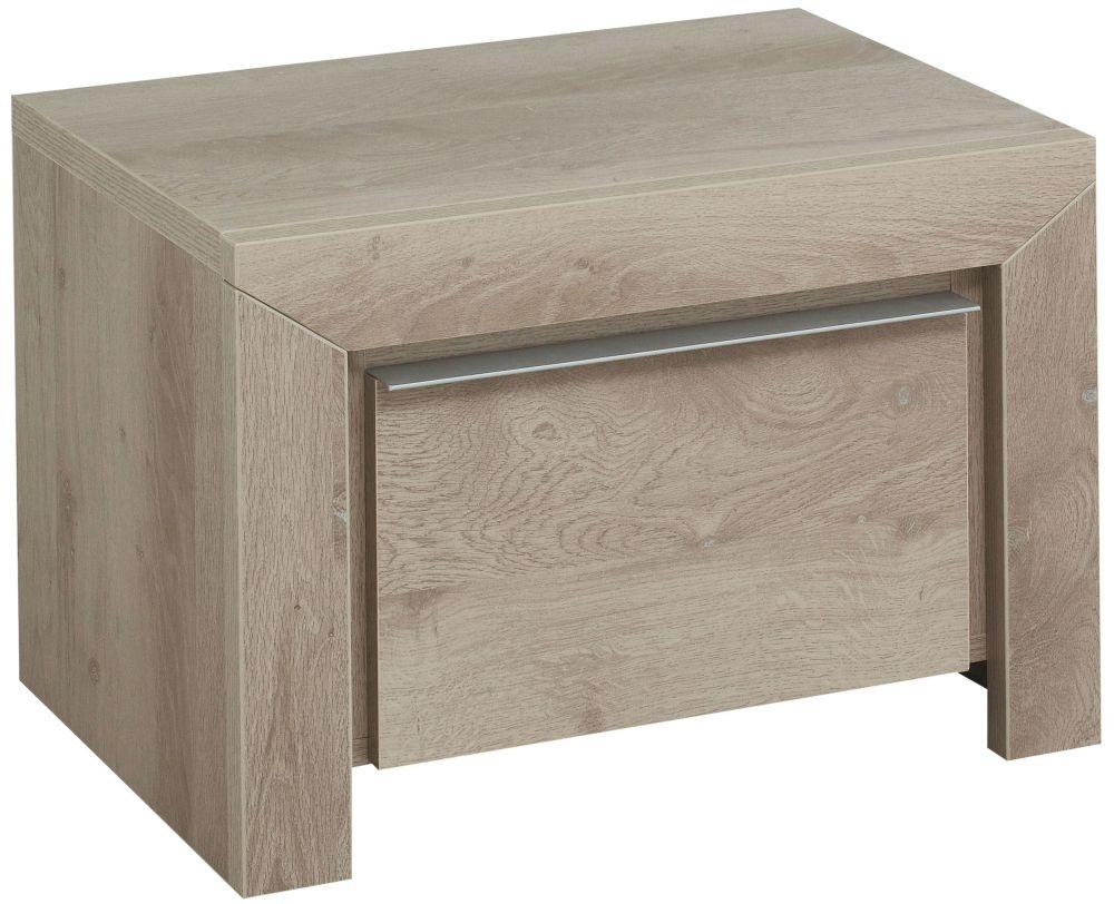 Gami Sarlat Oak Bedside Cabinet - 1 Drawer