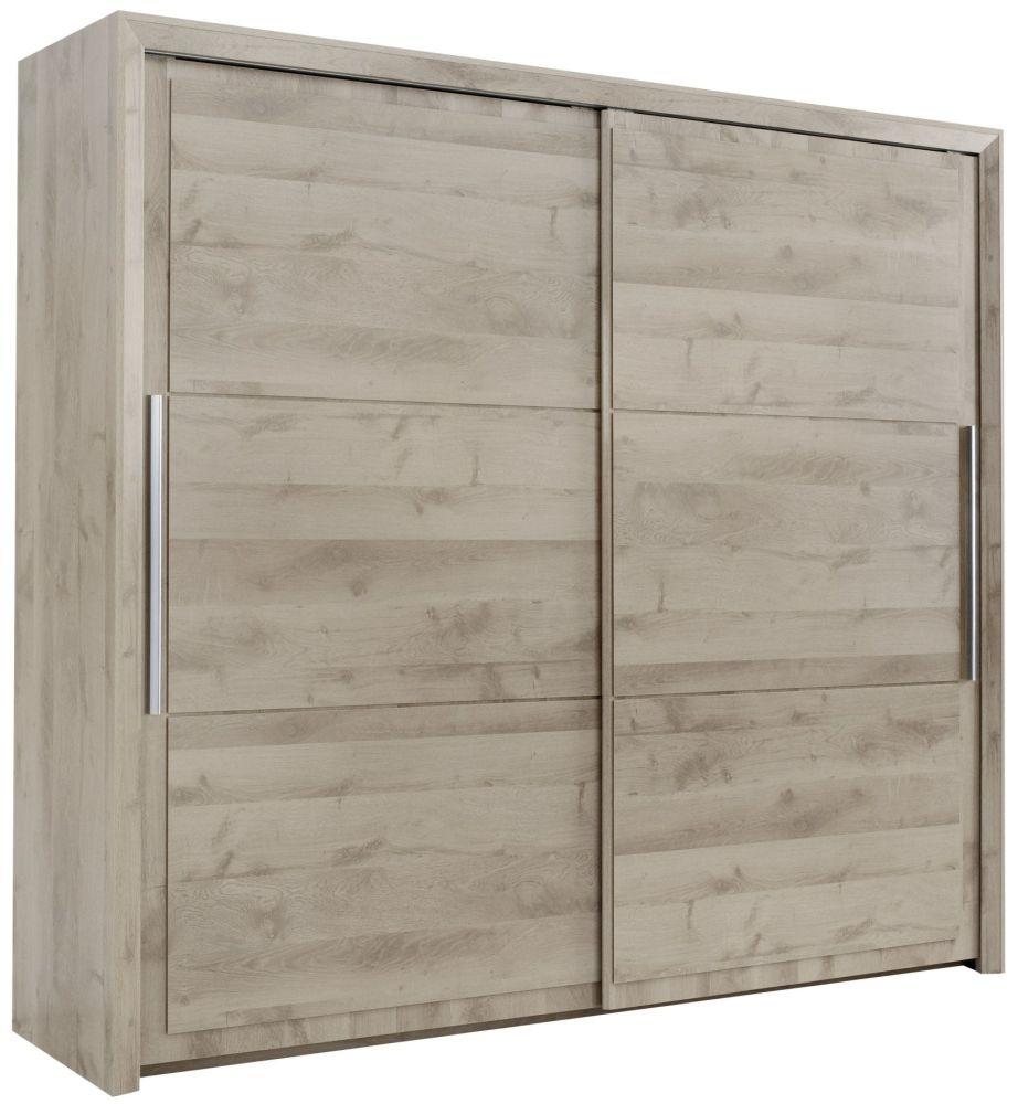 Gami Sarlat Oak Sliding Wardrobe - 2 Door