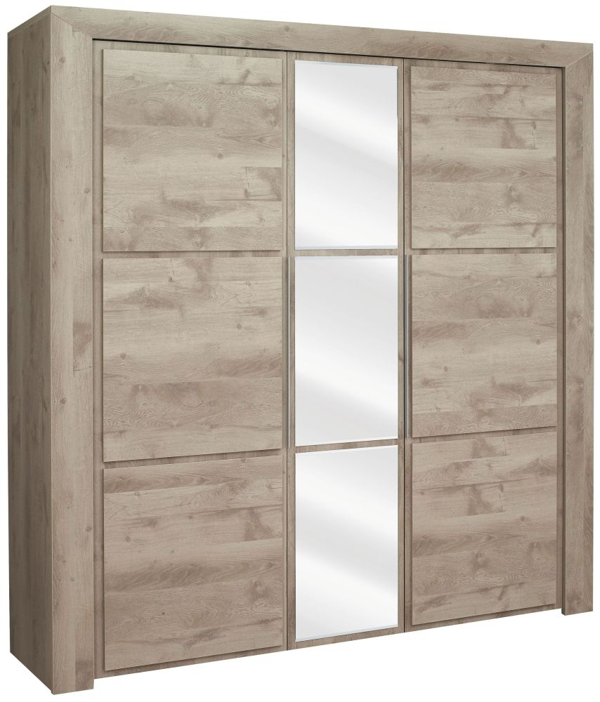 Gami Sarlat Oak Wardrobe - 3 Door