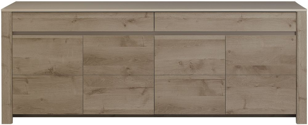Gami Sha Smoky Oak Sideboard - 4 Door 2 Drawer