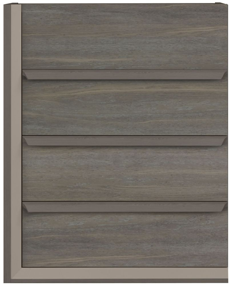 Gami Siena Baroque Oak Chest of Drawer - 4 Drawer Tall