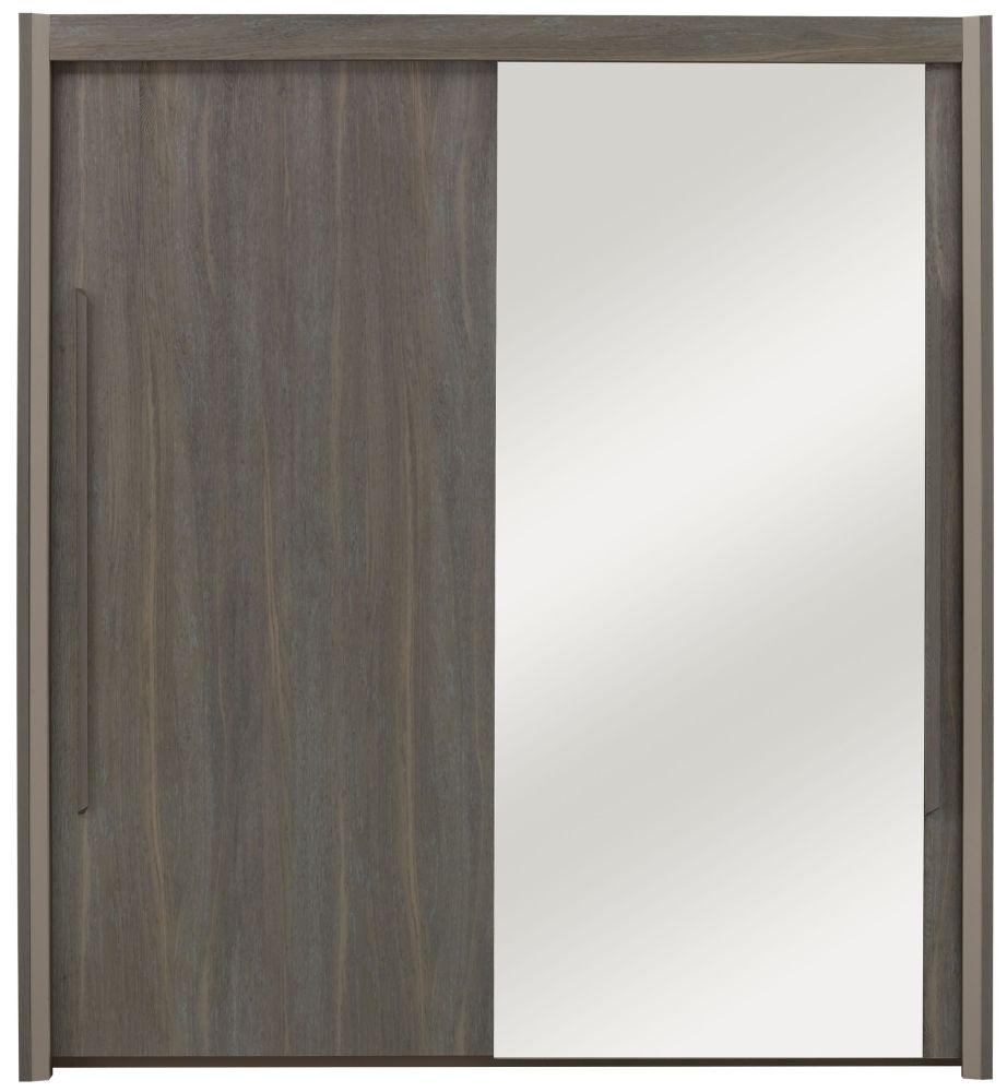Gami Siena Baroque Oak Sliding Wardrobe - 2 Door