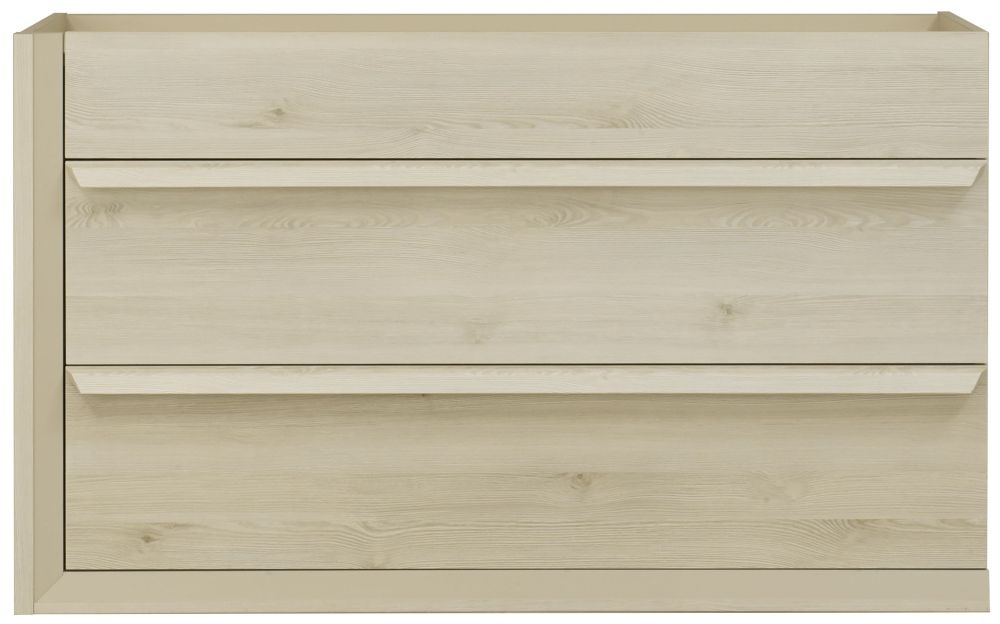 Gami Siena Whitewashed Pine Chest of Drawer - 3 Drawer