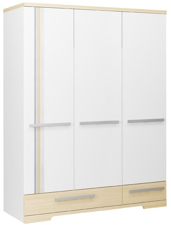 Gami Titouan Wardrobe - 3 Door 2 Drawer