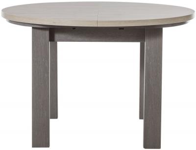 Gami Toscane Baroque Oak Dining Table - Round Extending