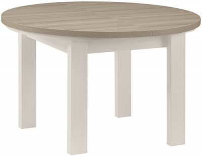 Gami Toscane Bleached Ash Dining Table - Round Extending