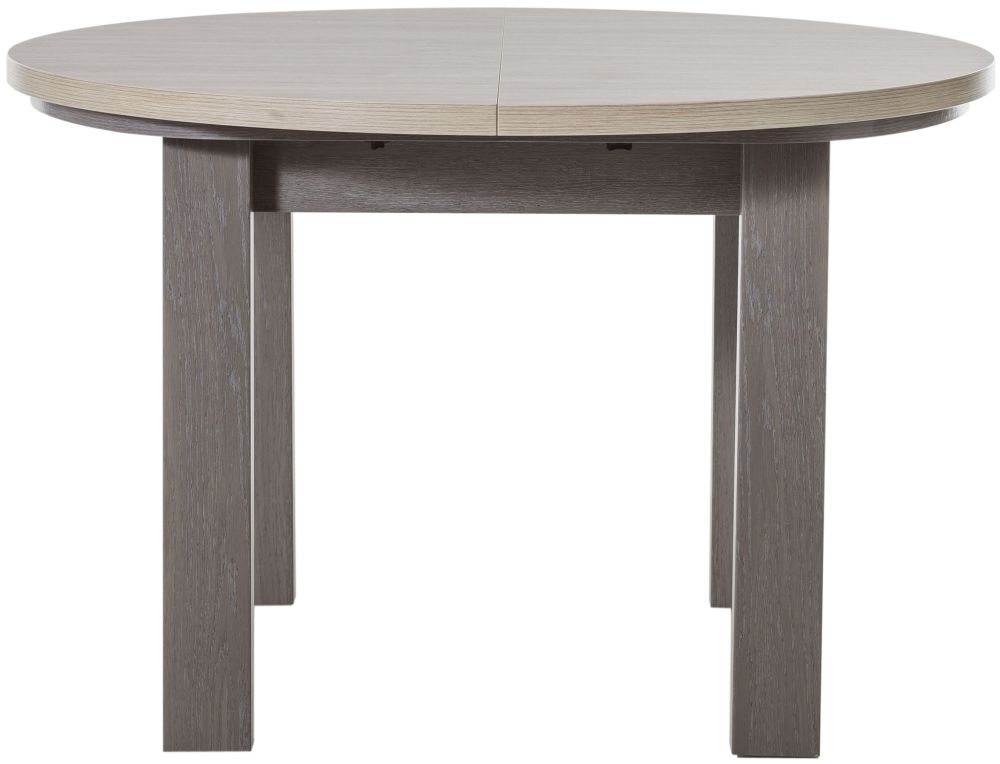 Gami Toscane Baroque Oak Dining Table - Round Extending