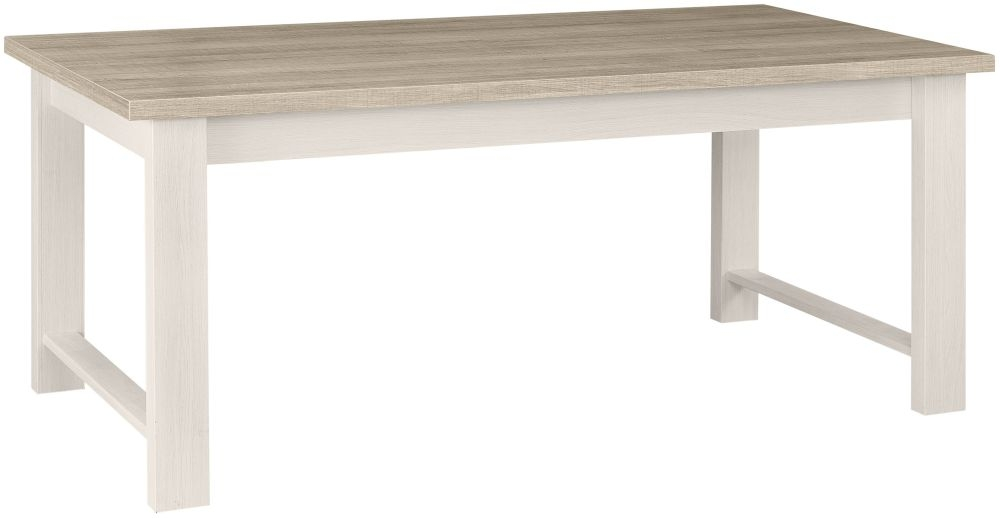 Gami Toscane Bleached Ash Dining Table - Rectangular Extending