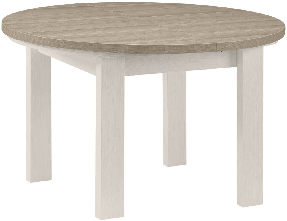 Gami Toscane Bleached Ash Dining Table   Round Extending