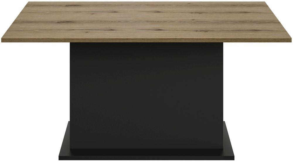 Gami Trust Helvezia Oak Central Pedestal Extending Dining Table
