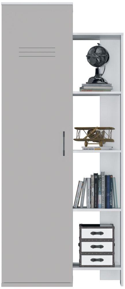 Gami UGO Moon Grey 1 Door Bookcase