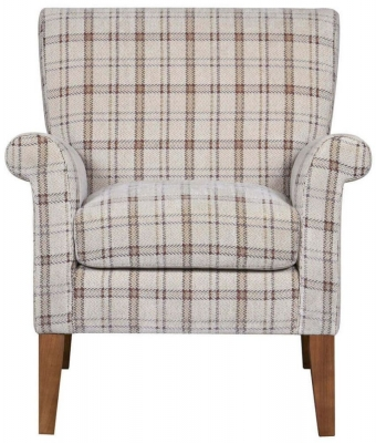 GFA Balmoral Canterbury Plaid Fabric Armchair