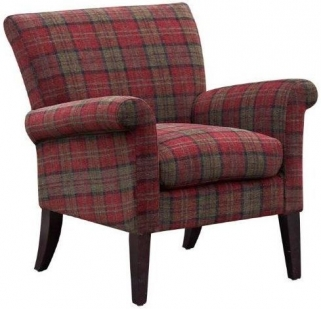 GFA Balmoral Claret Red Fabric Chair