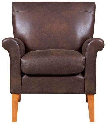 GFA Balmoral Vintage Brown Fabric Armchair