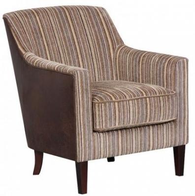 GFA Bloomsbury Brown Stripe Fabric Chair