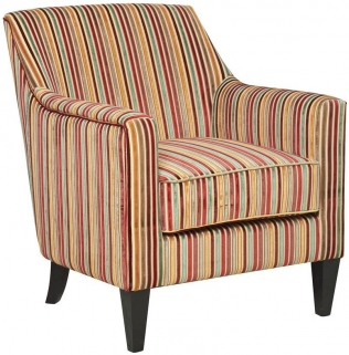GFA Bloomsbury Candy Stripe Fabric Chair