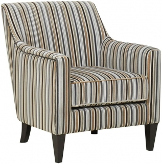 GFA Bloomsbury Silver Stripe Fabric Chair