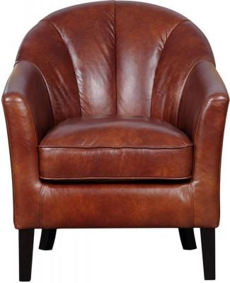 GFA Park Lane Chestnut Pull Up Leather Armchair