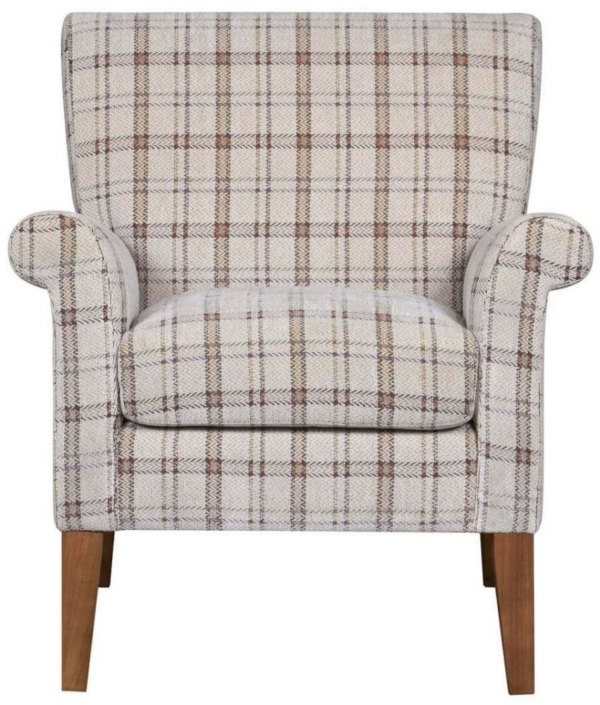 GFA Balmoral Canterbury Plaid Fabric Armchair