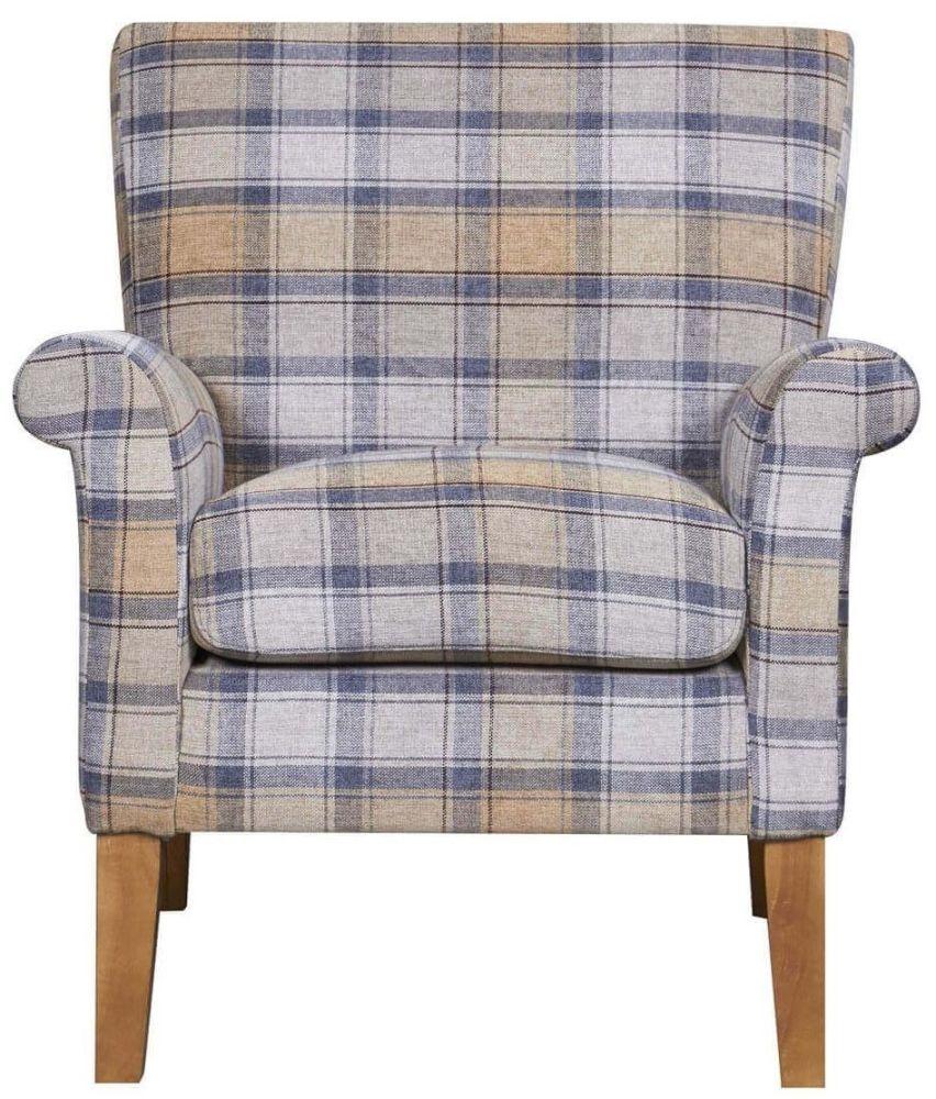 GFA Balmoral CornFlower Fabric Armchair