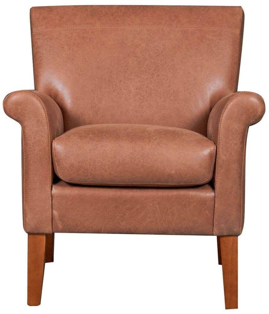 GFA Balmoral Vintage Tan Fabric Armchair