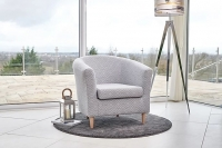 GFA Acton Accent Chair - Silver Aztec Fabric