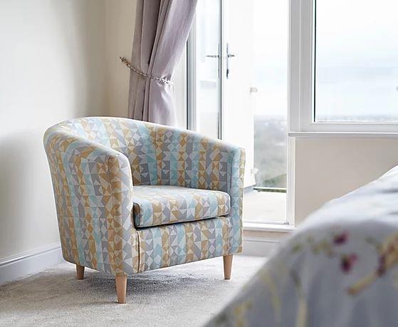 GFA Acton Accent Chair - Kaleidoscope Fabric