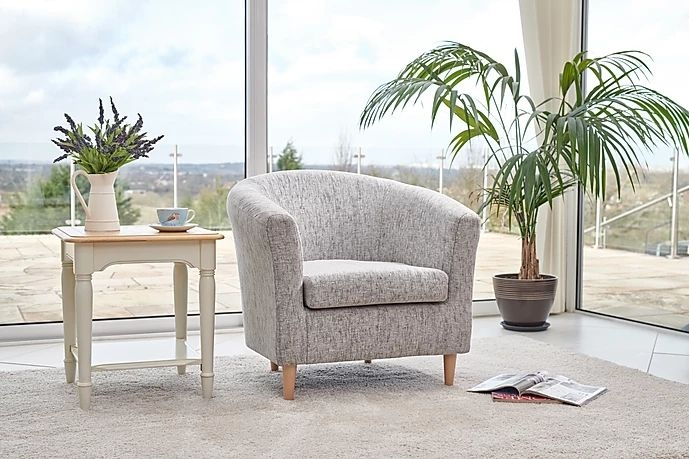 GFA Acton Accent Chair - Platinum Fabric