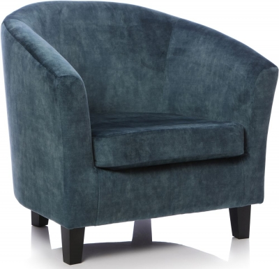 GFA Bailey Fabric Accent Chair - Dove Teal