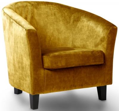GFA Bailey Fabric Accent Chair - Dove Turmeric
