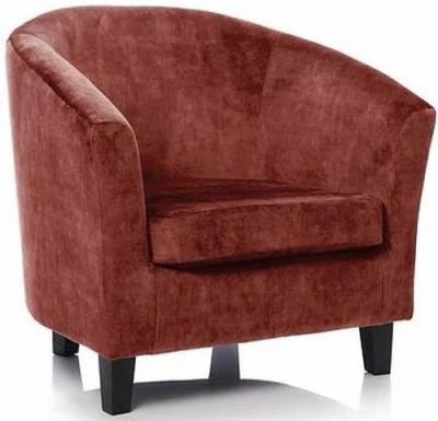 GFA Bailey Plain Fabric Accent Chair