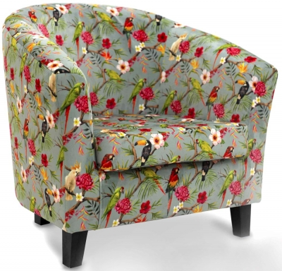 GFA Bailey Printed Fabric Accent Chair