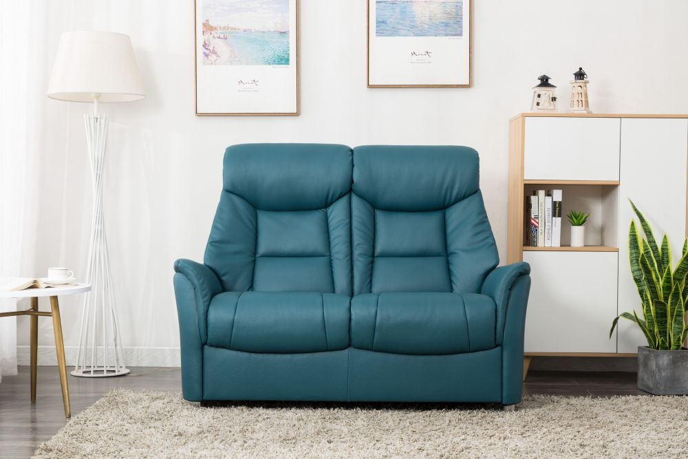 GFA Biarritz 2 Seater Sofa - Lagoon Plush Fabric