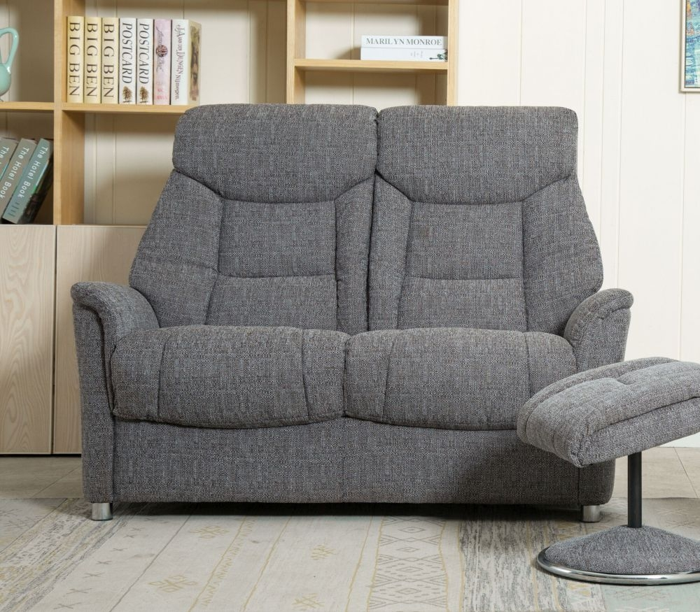GFA Biarritz 2 Seater Sofa - Lisbon Grey Fabric